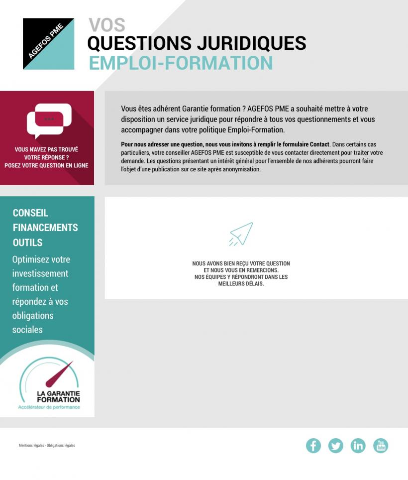 Agefos PME - Questions Formation - Formulaire