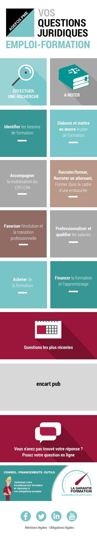 Agefos PME - Questions Formation -  Mobile - accueil