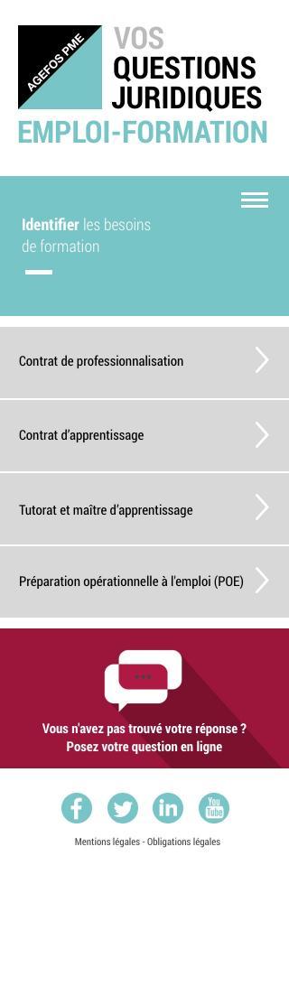 Agefos PME - Questions Formation -  Mobile - niveau1