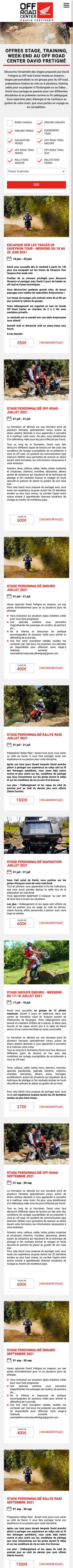 Site internet David Fretigne